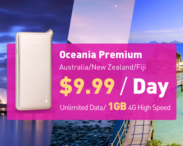 Oceania WiFi Hotspot Rental | Pocket MiFi Device | Portable 4G